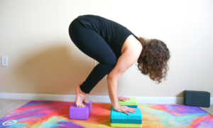 how to use yoga block in crow pose — tamara fayad yoga